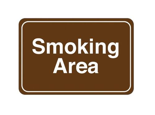 "6"" x 9"" ""Smoking Area"" Universal Instructional Facility Sign"