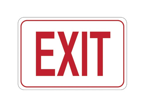 """7"""" x 10"""" """"EXIT"""" Universal Instructional Facility Sign and Graphics"""