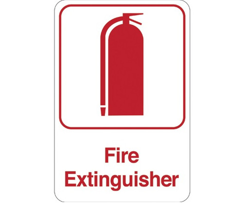 """9"""" x 6"""" """"Fire Extinguisher"""" Universal Instructional Facility Sign and Graphics"""