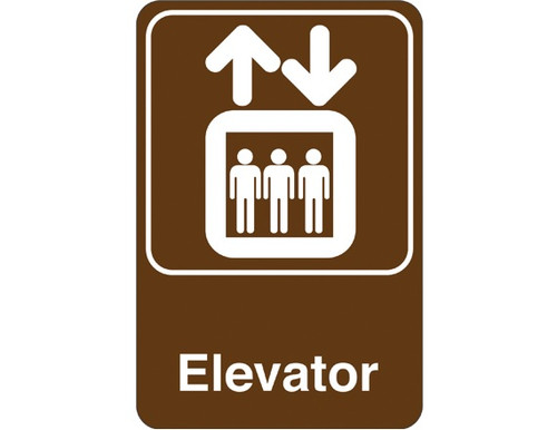 """9"""" x 6"""" """"Elevator"""" Universal Instructional Facility Sign and Graphics"""