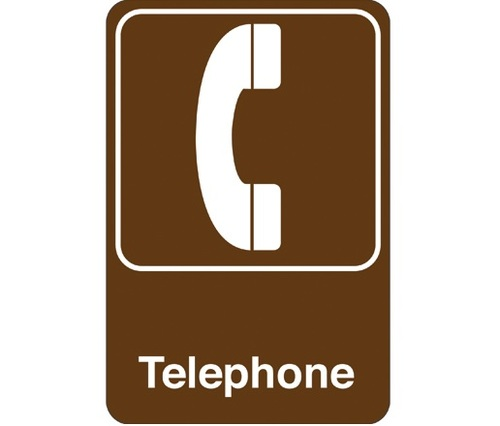 """9"""" x 6"""" """"Telephone"""" Universal Instructional Facility Sign and Graphics"""