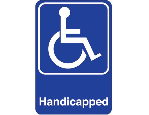 """9"""" x 6"""" """"Handicapped"""" Universal Instructional Facility Sign and Graphics"""