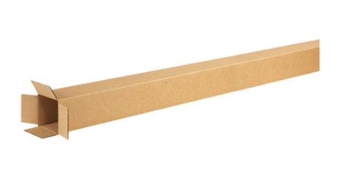 "4"" x 4"" x 74"" (ECT-32) Tall Kraft Corrugated Cardboard Shipping Boxes"