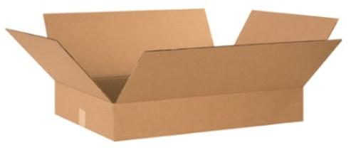 "24"" x 17"" x 3"" (200#/ECT-32) Flat Kraft Corrugated Cardboard Shipping Boxes"