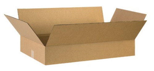 "29"" x 17"" x 3"" (200#/ECT-32) Flat Kraft Corrugated Cardboard Shipping Boxes"