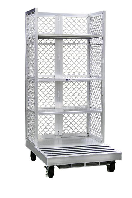 Forklift Order Picking Cart for Warehouse Fulfillment - 3 Shelves