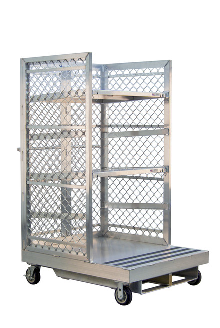 Forklift Order Picking Cart for Warehouse Fulfillment - 2 Shelves with Pins