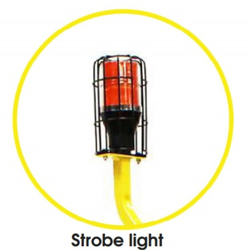 The Safety Strobe Light increases and promotes work place safety and helps prevent worker injury.