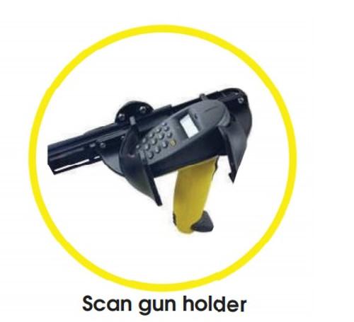 Scan Gun Holder for Amigo Mobility Powered Warehouse Carts