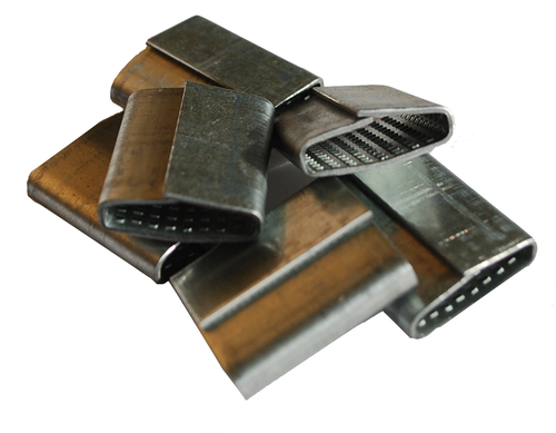 """5/8"""" Closed Serrated Pusher Polypropylene and Polyester Strapping Seals"""