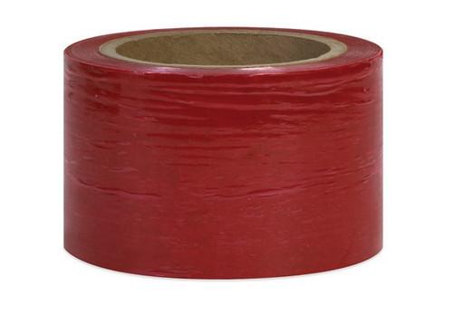 """3"""" Red Stretch Wrap Bundling Plastic Film"""