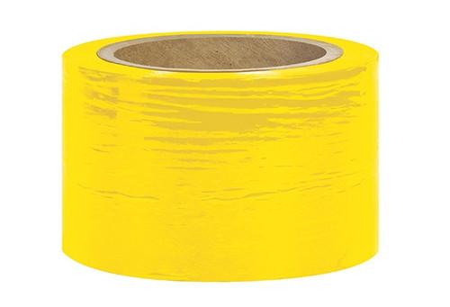 "3"" Yellow Stretch Wrap Bundling Plastic Film"