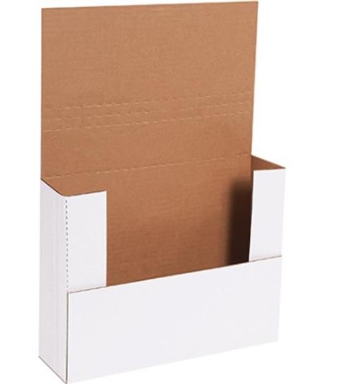 "12"" x 9"" x 3"" White Easy-Fold Mailers 50/Bundle"