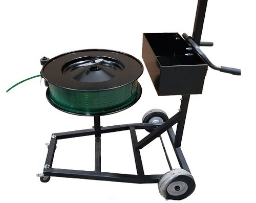 Vertical/Horizontal Mobile Strapping Truck Cart - Belly Bander Dispenser in Horizontal Position