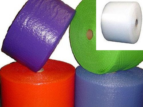 """3/16"""" Small Bubble Wrap® Perforated every 12"""". Available in Blue, Purple, Red and Clear."""