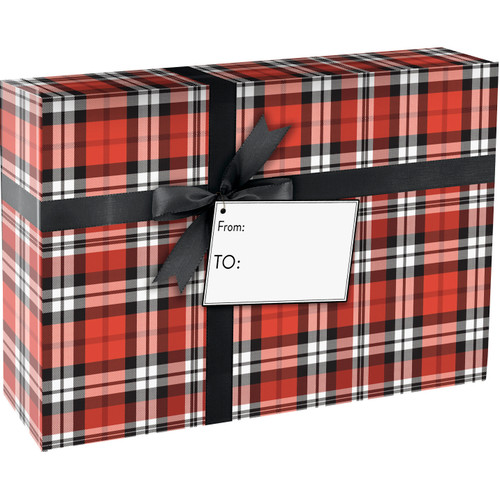 """Authentic Plaid"" Decorative Gift Shipping Mailing Boxes 9 1/2"" x 6 1/2"" x 4"""