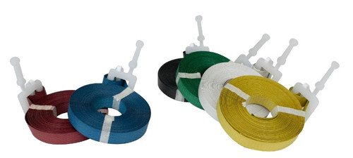 """Color Polypropylene Strapping with Pre-Attached Poly Buckle Pre-Cut 1/2"""" x 17'"""