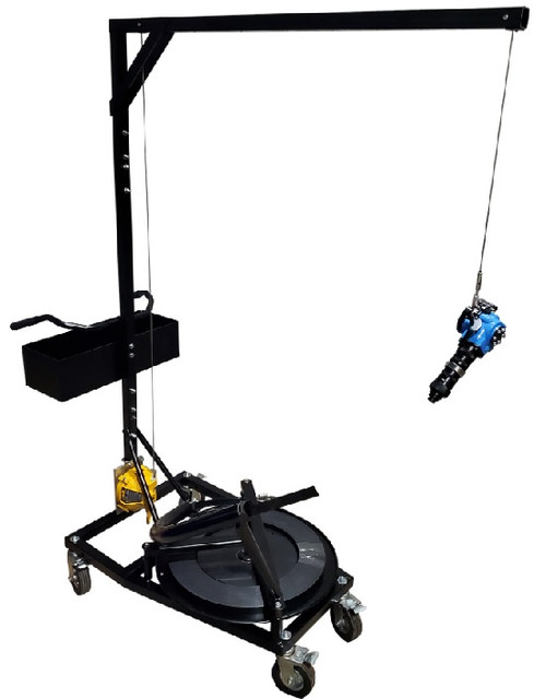 Strapping Cart with Storage Bin and Optional Spring Loaded Tool Reel & Battery Operated Strapping Tool