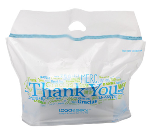 Load & Seal™ Tamper Evident Take Out Delivery Restaurant Bags
