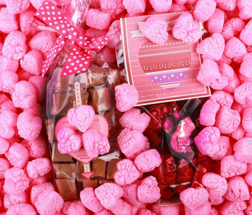 Eco-friendly Pink Heart Packing Peanuts