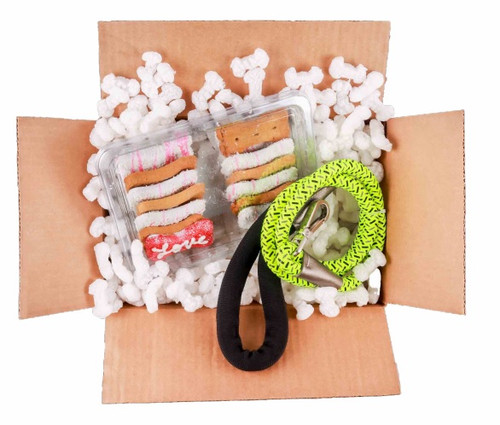 Non-Static, Plant Based, Certified Compostable White Dog Bone Shaped Packing Peanuts
