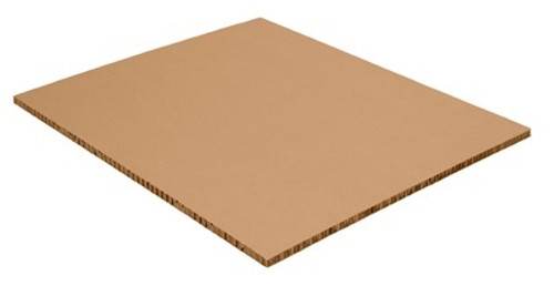 """40"""" x 48"""" x 1/2"""" Honeycomb Pallet Sheets constructed from compressed paper that is lightweight, yet durable."""