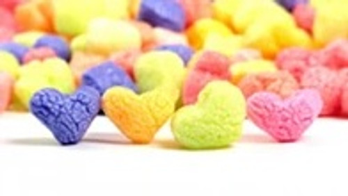 Colorful  Heart Shaped Packing Peanuts. Environmentally Friendly to all Ecosystems such as Lakes, Streams, Rivers, & Oceans