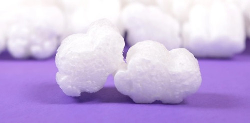 White Puffy Cloud Shaped Packing Peanuts. Environmentally Friendly to all Ecosystems such as Lakes, Streams, Rivers, & Oceans