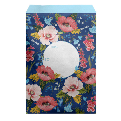 """Blooming"" Decorative Tyvek Sendables Gift Shipping Envelopes 12"" x 16"""