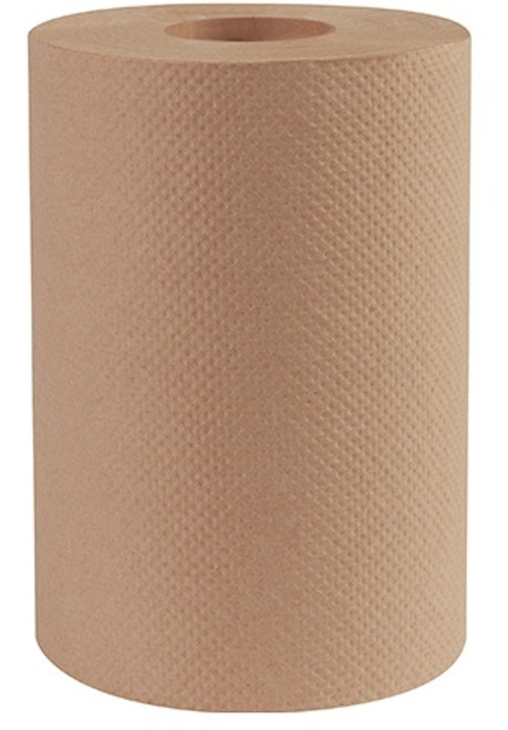 "8"" x 350' Bedford Kraft Hard Wound Paper Towel Rolls"