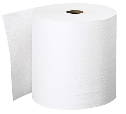 "8"" x 600' Scott® Essential™ Plus White Hard Wound Paper Towel Rolls"