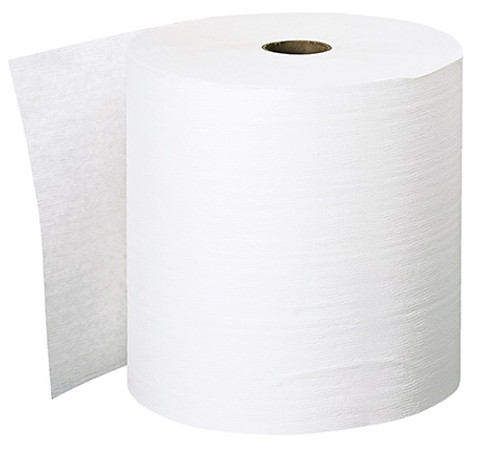 "8"" x 600' Scott® Essential™ Plus White Hard Wound Roll Paper Towels"