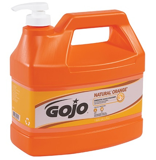 GOJO® NATURAL* ORANGE™ Smooth Hand Soap 1 Gallon Pump Bottle