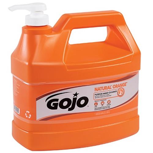 GOJO® NATURAL* ORANGE™ Pumice Hand Soap 1 Gallon Pump Bottle
