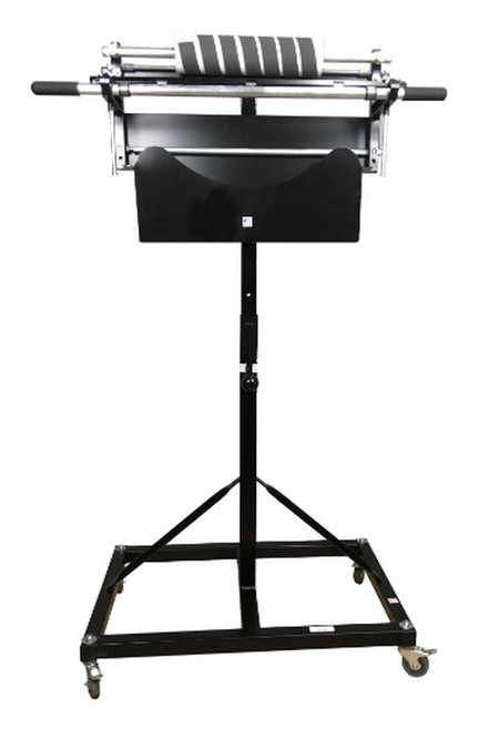 """12"""" Mobile Perforated Poly Bag Roll Stand / Dispenser with Casters"""