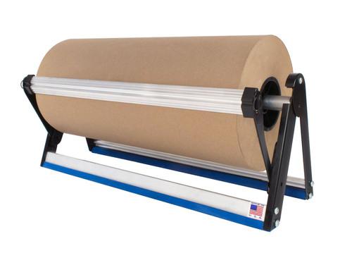 """60"""" Economy Horizontal Kraft Paper Roll Dispenser Straight Edge"""