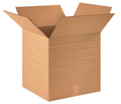 "16"" x 16"" x 16"" Multi-Depth Brown Corrugated Cardboard Shipping Box Build-A-Bundle™"