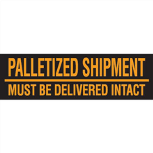 """""""Must Be Delivered Intact""""  (Fluorescent Orange) Pallet Corner Labels"""