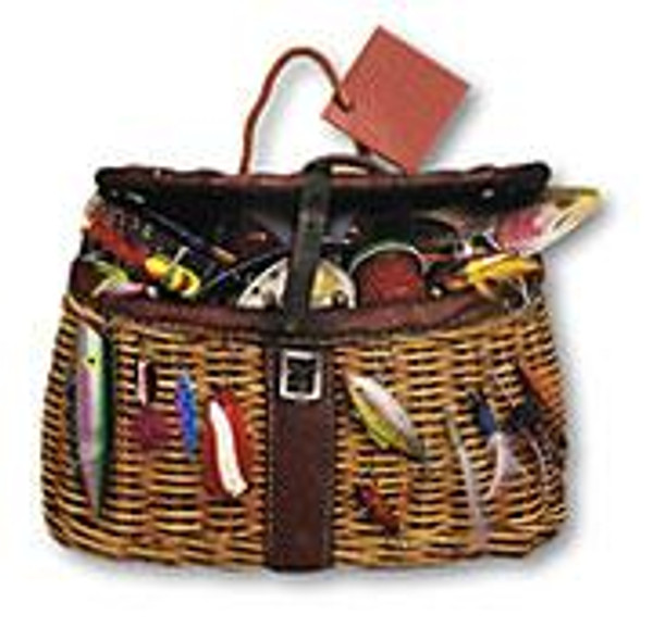 Fishing Bait and Tackle Die-Cut Themed Gift Bag Tote