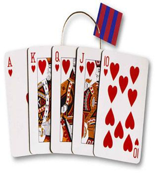 Royal Flush Cards Die-Cut Themed Gift Bag Tote