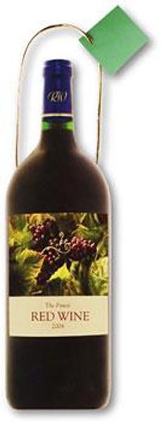 Red Wine Die-Cut Themed Gift Bag Tote