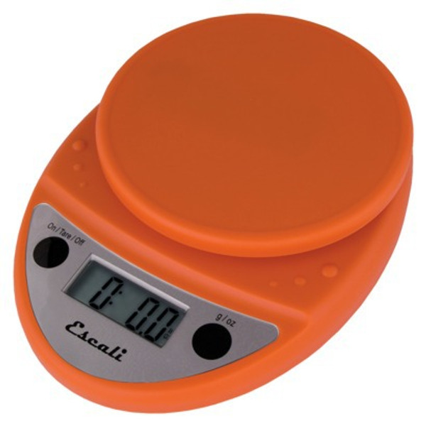 Escali Primo Pumpkin Orange Digital Multifunction Kitchen Scale