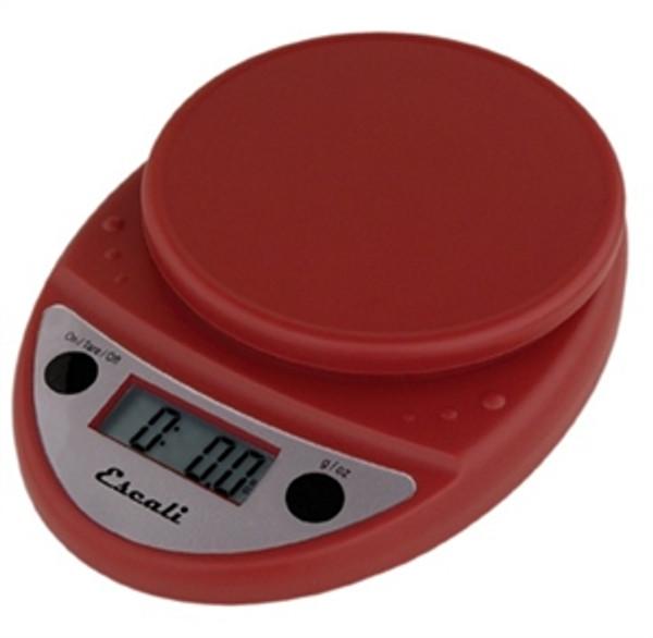 Escali Primo Warm Red Digital Multifunction Kitchen Scale