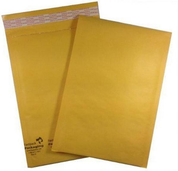 "7 1/4"" x 11"" Kraft Self Seal Bubble Mailer Envelope"