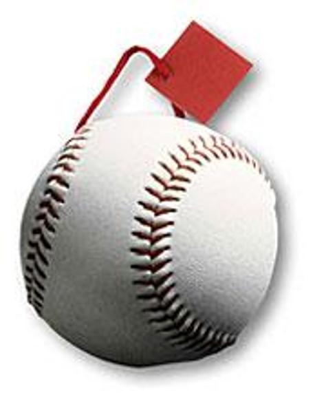 "6"" x 7"" x 3 3/8"" Baseball Small Die Cut Gift Bag"