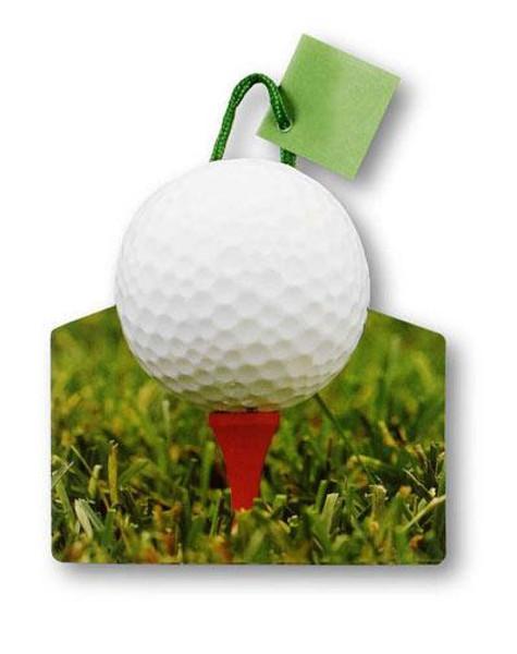 """6"""" x 7"""" x 3"""" Golf Tee Small Die Cut Gift Bags"""