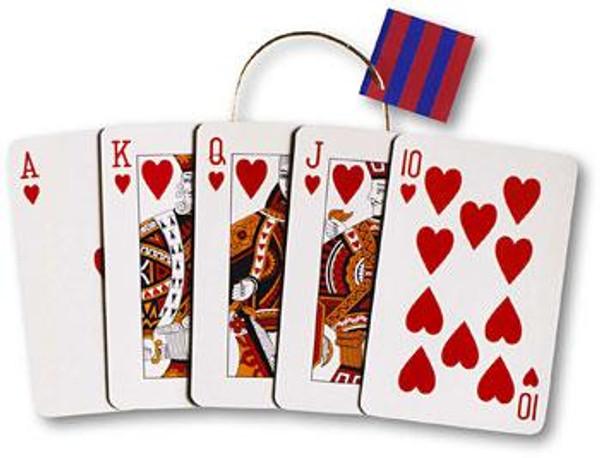 """12"""" x 16"""" x 5 1/2"""" Big Royal Flush Extra Large Die Cut Gift Bag"""