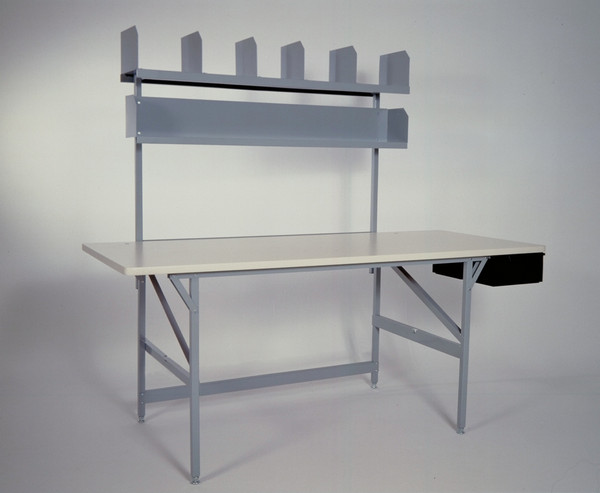 Includes two storage shelves and parts drawer