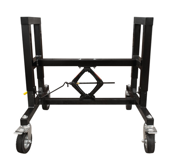Adjustable Support Table with Casters to be used with the Automated Stretch Wrap Bundling Machine (Ring Wrapper - YEP-6700-25).