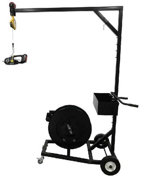 Strapping Cart with Storage Bin and Optional Spring Loaded Tool Reel
